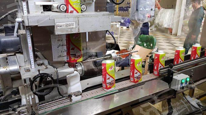 اتوماسیون دستگاه اسلیو و شیرینگ بطری شامپو فرش